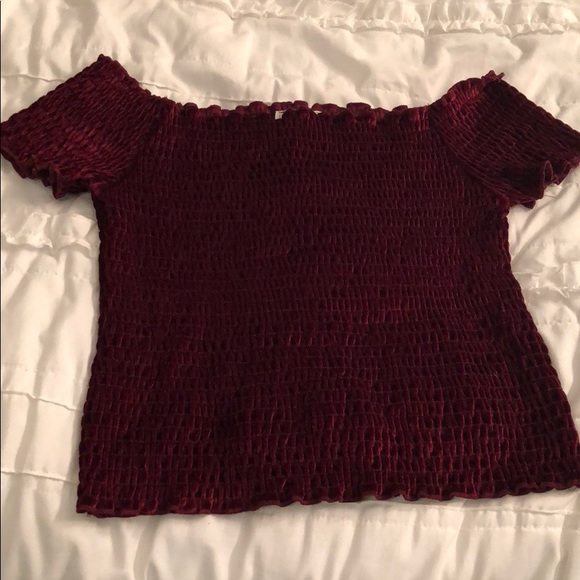 139ad0ab29f Urban Outfitters Tops   Light Before Dark Off The Shoulder Crop Top ...